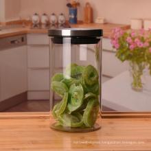 wholesale top quality spice glass jar with metal screw lid glass straight jars