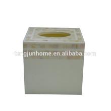 Mutter der Perle Shell-Produkt chinesischen Süßwasser-Shell natürlichen Farbe quadratischen Gewebe-Box