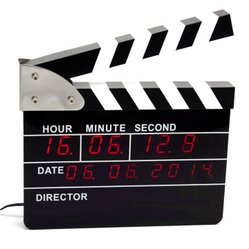 Movie Clapper dengan Digital Alarm Clock