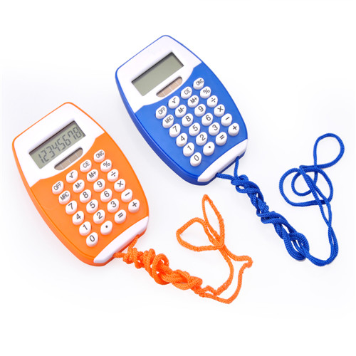 Mini Calculator with Lanyard