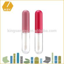 Kissproof plástico colorido tampa de alumínio private label recipiente tubo de brilho labial