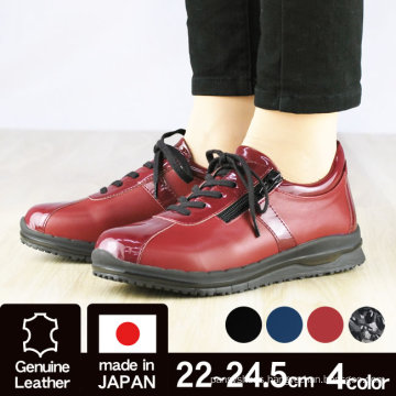 Made in Japan 4E side fasterner shoes with caterpillar soles