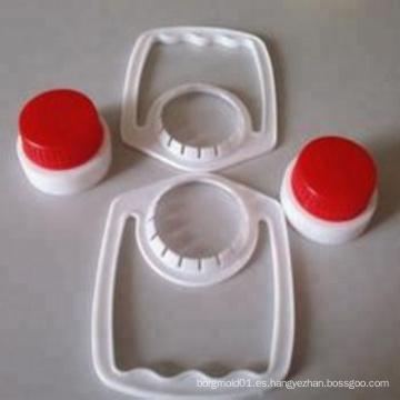 Fabricación plástica durable de alta calidad de la tapa de botella del aceite de la inyección y del molde de la manija