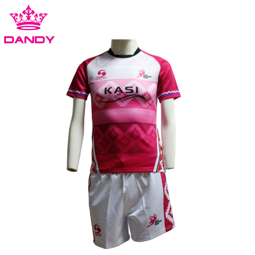 Atmungsaktives Gewebe Full Sublimation Rugby Shirt