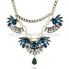 Granos de la resina vinculan collar de cadena bronce para mujeres