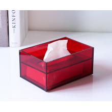 Caja de pañuelos acrílicos coloridos rectangulares