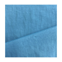 70D*70D 110*110 85GSM blue color plain wave 100% N recycled fabric for clothing material