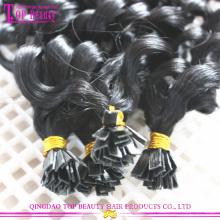 Fabrik direkt Preis flache Spitze Erweiterung beste Qualität remy brasilianisches Echthaar Haarverlängerung flache Spitze Haare
