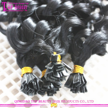 Factory directly price flat tip hair extension best quality remy brazilian human hair extensions flat tip hair