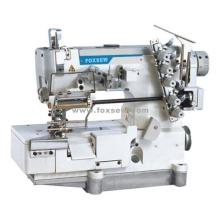 Máquina de costura de bloqueio de mesa para rendas elásticas com corte de borda