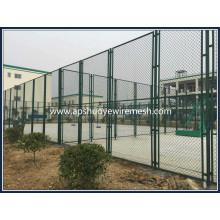 Heiß eingetauchter galvanisierter Kettenglied-Zaun
