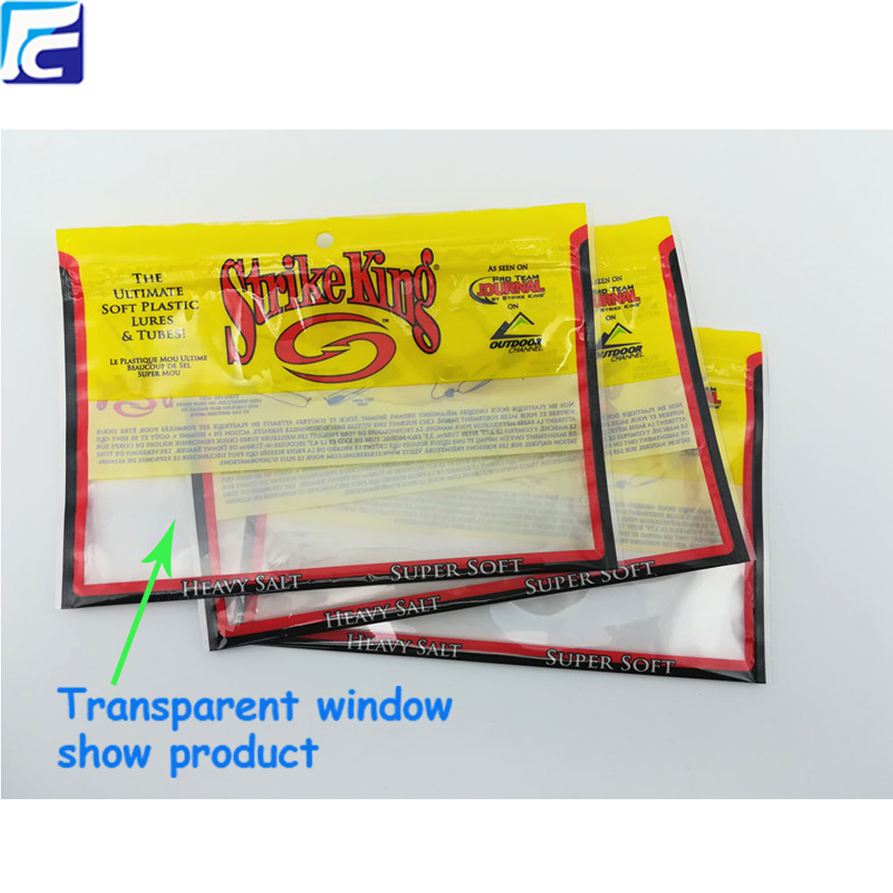 zip lock of Fishing Lure Zipper Packing Bags