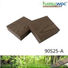 Jardin durable de patio solide épais de terrasse de 25mm / pavage carré WPC