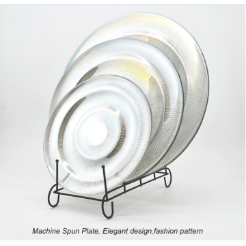 Glass Plate With  Electroplate Silver Color