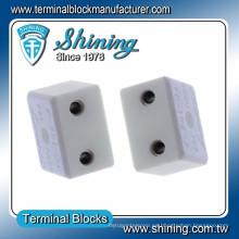 TC-152-A Conector de alambre cerámico de alta temperatura 600V 15A de 2 clavijas