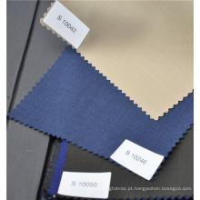 O poliéster de lã penteada preto profissional misturou a tela lisa para o uniforme do terno