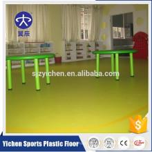 plancher de PVC utilisé maternelle / vinyle plancher en plastique utilisé à l'intérieur