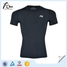 T-shirts de compression à couche de base compressée Spandex pour homme