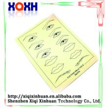 Maquillage permanent de haute qualité Lèvres Lèvres Image Tatouage Simulation peau, peau de pratique fausse en caoutchouc