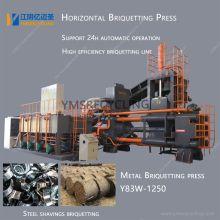Prensa de briquetagem horizontal de cavacos de metal