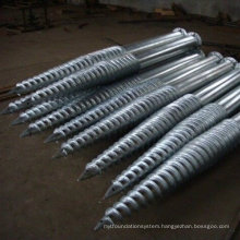 Penetrator Screw Anchors for Soil and Sand
