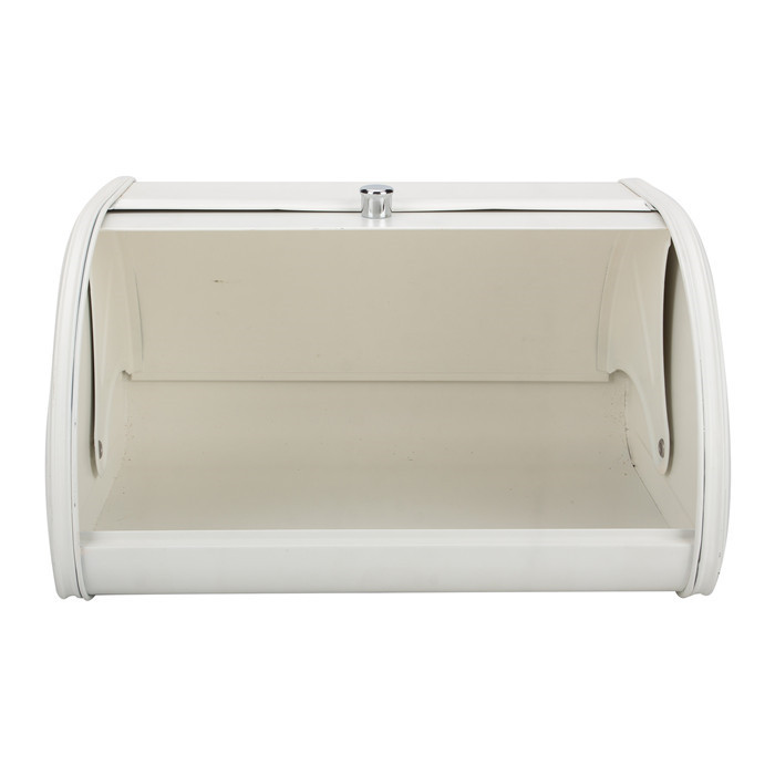 White Bakery Bin with Roll Top