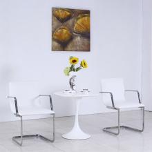 Современный Белый кожаный металлических ресторан стол и стул набор (СП-CT845)