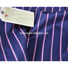 Abraham moon brand fashion stripe wool cotton blended blazer fabric for stock service