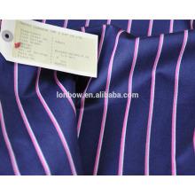 Abraão lua marca moda listra de lã de algodão misturado blazer tecido para serviço de estoque