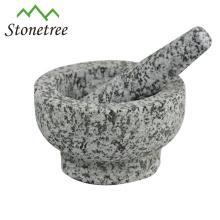 Granito de piedra utensilios de cocina barato personalizado mortero y maja