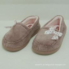 2014 nova chegada confortável mulheres quentes rosa indoor sapatos de pelúcia inverno chinelo quarto sapatos