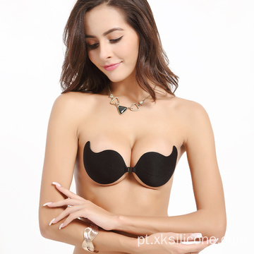 Strapless push-up invisível backless stick no sutiã