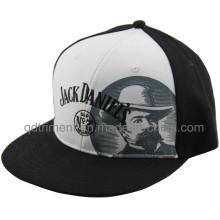 Flat Bill Screen Print Embroidery Baseball Snapback Cap (TMFL7317-2)