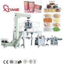 Línea de producción de máquina de etiquetado de sellado de llenado de tarros de PET