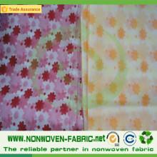 Dessins de peinture de tissu non tissé sur le linge de table