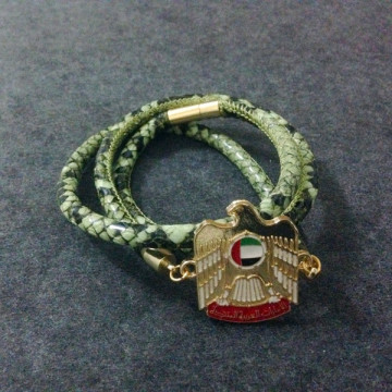 UAE Badge Stingray Leather Hari Nasional Gift Bracelet
