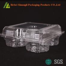 Emballage de tarte aux oeufs transparent en plastique transparent
