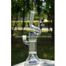 Wholesale Glass Water Pipe Smoking Pipe with Pillar Perc and Empire Perc