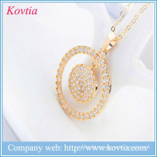 Moedas de ouro pingente de colar de diamantes preço por quilate ouro colar de colar de idéias