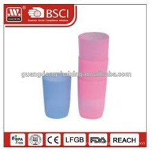 beautiful design food grade material hot selling 250ml pp plastic drinking cup with handle