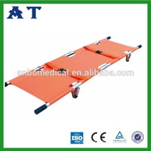 2 Folding Stretcher with foot support