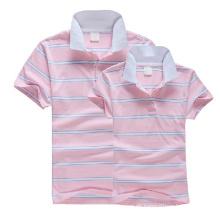 Großhandelsgestreiftes Paar-Rosa-Polo-T-Shirt