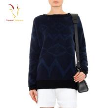 Jerseys de invierno Intarsia Pullover para mujeres
