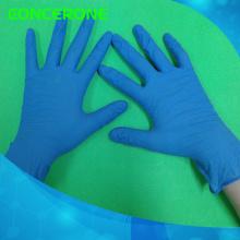 Высокое качество одноразовые Нитриловые смотровые перчатки с голубым цветом