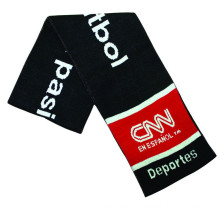 Customized Logo world soccer cup football team clubs scarf double side fan knitted souvenir scarf