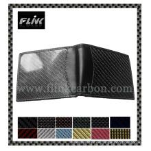 Monedero / carpeta de la fibra del carbón