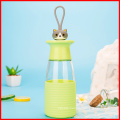350ml Lovely Animal Glass Water Bottle with Silicone sleeve
