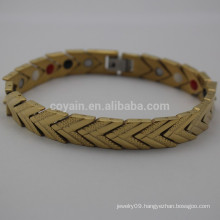 Stainless Steel Gold Plated Arrow Chain Link Bracelet