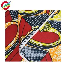 La teinture de cire africaine de polyester pur imprime le tissu tissé à vendre