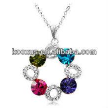 Erstaunliche Rhinestone-hängende Halskette, Kristall-hängende Halskette, Kristallschmucksacheaussagehalskette